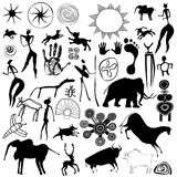 Cave painting - primitive art - vector Royalty Free Stock Image