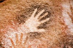 Cave paintings in Argentina. Ancient Cave paintings in Patagonia Argentina Stock Photography