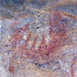 Cave paintings in the Cueva de las Manos, El Calafate royalty free stock photography