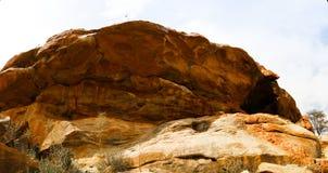 Cave paintings Laas Geel rock exterior, Hargeisa, Somalia. Cave paintings Laas Geel rock exterior near Hargeisa, Somalia Royalty Free Stock Photos