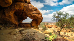 Cave paintings Laas Geel rock exterior near Hargeisa Somalia. Cave paintings Laas Geel rock exterior near Hargeisa, Somalia Royalty Free Stock Photo