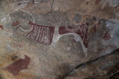 Cave paintings and petroglyphs Laas Geel near Hargeisa closeup Somalia. Cave paintings and petroglyphs Laas Geel near Hargeisa, closeup, Somalia Royalty Free Stock Photos