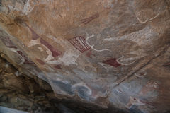 Cave paintings and petroglyphs Laas Geel near Hargeisa Somalia. Cave paintings and petroglyphs Laas Geel near Hargeisa, Somalia Royalty Free Stock Images