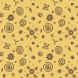 Cave paintings vector seamless pattern Royalty Free Stock Image