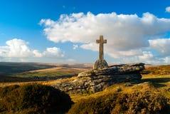 Cave Penney Memorial Cross. Dartmoor Royalty Free Stock Image