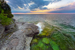 Cave Point Daybreak Royalty Free Stock Photos