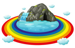Cave and rainbow Royalty Free Stock Image
