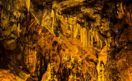 Cave with rare formations Stock Photography