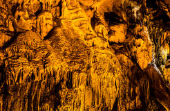 Cave with rare formations Royalty Free Stock Photos