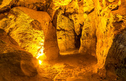 Cave with rare formations Royalty Free Stock Image