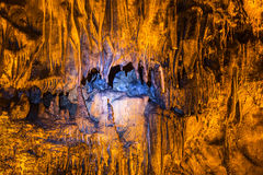 Cave with rare formations Stock Image