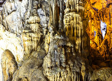 Cave with rare formations Royalty Free Stock Images
