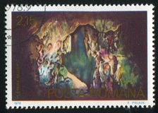 Cave. ROMANIA - CIRCA 1978: stamp printed by Romania, shows Cave, circa 1978 royalty free stock image