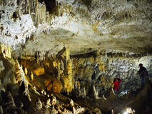 Cave  Room, Stalagmites Stalactites Stock Images