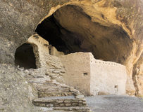 A Cave 3 Scene at the Gila Cliff Dwellings Stock Photography