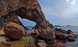 Cave and sea Stock Photography