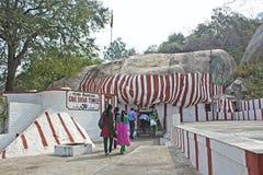 Cave Shiva temple Stock Photo