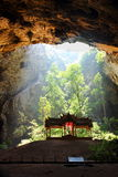 Cave with shrine Royalty Free Stock Photography