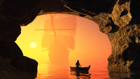 The cave. Royalty Free Stock Images