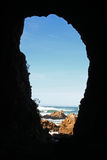 Cave in South Africa. Big cave in the the coast of Knysna, South Africa Royalty Free Stock Photos