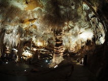 Cave. Spectacular stalactites on the roof of Tantanoola Cave. Mount Gambier, South Australia Royalty Free Stock Photo