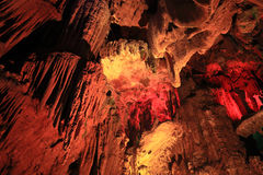Cave and stalactite Stock Images