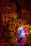 Cave with stalactite ,China Royalty Free Stock Photos