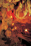 Cave stalactites and formations. Thailand royalty free stock photo