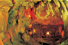 Cave stalactites and formations Royalty Free Stock Image