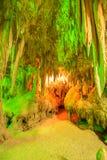 Cave stalactites Stock Photo