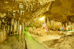 Cave stalactites. At the southern of Thailand royalty free stock photo