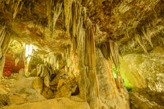Cave stalactites. At the southern of Thailand royalty free stock photography