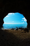The Cave in SUNAYAMA Beach, Okinawa Prefecture/Japan Royalty Free Stock Image
