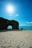 The Cave in SUNAYAMA Beach, Okinawa Prefecture/Japan Royalty Free Stock Images