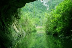 Cave in the Tam Coc River. Cave in the Tam Coc (three caves) River, Ninh Binh, North Viet Nam Stock Image
