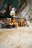 Cave temple buddha statue krabi thailand Royalty Free Stock Photo