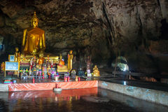 Cave temple in Kanchanaburi province Stock Photo