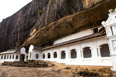 Cave temple in Sri Lanka Royalty Free Stock Photos