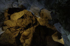 Cave texture stalagmite stalactites background. Cave texture stalagmite stalactites in Chiang Mai Thailand, Muang-on cave royalty free stock photo