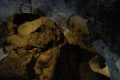 Cave texture stalagmite stalactites background Royalty Free Stock Photo