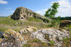 Cave in toltre near the Butesti village, Moldova Royalty Free Stock Images
