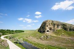 Cave in toltre near the Butesti village, Moldova Stock Photography