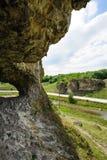 Cave in toltre near the Butesti village, Moldova Royalty Free Stock Photos