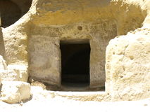 Cave Tomb. Cut into the rock Royalty Free Stock Photography