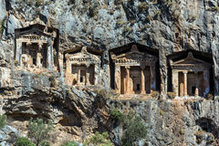 Cave tombs of Kaunos Stock Photos