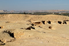 Cave tombs in the Siwa Oasis in Egypt Royalty Free Stock Image