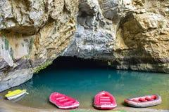 Cave tourism concept Stock Photography