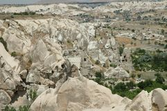 Cave-town in Cappadocia, Turkey Stock Image