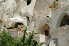 Cave-town in Cappadocia, Turkey Royalty Free Stock Photography