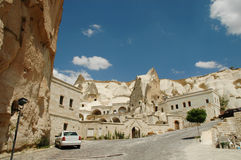 Cave-town in Cappadocia, Turkey Stock Photo